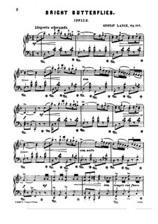 Bright Butterflies, Op.205: para um único musico (Editado por H. Bulow) by Gustav Lange