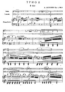 Three Piano Trios, Op.1: Trio No.2 by Ludwig van Beethoven