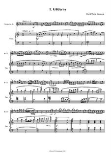 No.1 Gilderoy: para clarinete e piano by folklore, David W Solomons