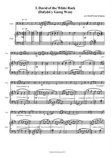 No.3 David of the White Rock: para Violoncelo e piano by folklore, David W Solomons