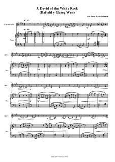 No.3 David of the White Rock: para clarinete e piano by folklore, David W Solomons