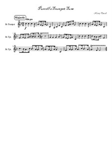 Trumpet tune and Air: para trompeta by Henry Purcell