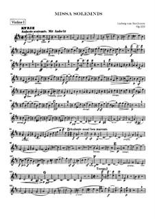 Missa Solemnis, Op.123: violino parte I by Ludwig van Beethoven