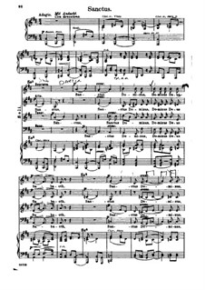 Missa Solemnis, Op.123: Sanctus, piano score with vocal parts by Ludwig van Beethoven