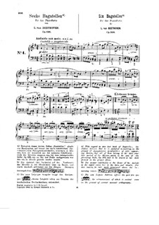 Six Bagatelles for Piano, Op.126: set completo by Ludwig van Beethoven