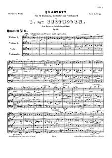 String Quartet No.14 in C Sharp Minor, Op.131: Partitura completa by Ludwig van Beethoven