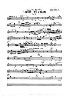 Concerto No.2 for Violin and Orchestra: Perts by Nancy Van de Vate