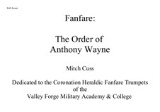 Fanfare: The Order of Anthony Wayne: Fanfare: The Order of Anthony Wayne by Mitch Cuss