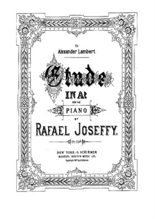Etude in A Flat Major: para um único musico (Editado por H. Bulow) by Rafael Joseffy