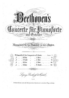Concerto for Piano and Orchestra No.1, Op.15: versão para piano de quatro mãos by Ludwig van Beethoven