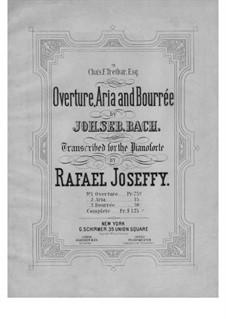 Partita for Violin No.3 in E Major, BWV 1006: para um único musico (Editado por H. Bulow) by Johann Sebastian Bach