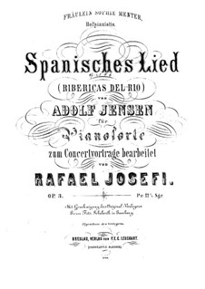 Seven Songs for Voice and Piano, Op.21: No.6 A Maiden so Fair by Adolf Jensen