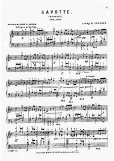 Gavotte: Para Piano by Giovanni Battista Martini