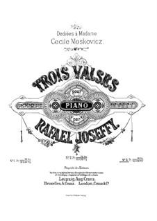 Trois Valses, Op.3 No.3: Trois Valses by Rafael Joseffy