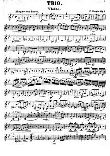 Piano Trio in G Minor, Op.8: parte do violino by Frédéric Chopin