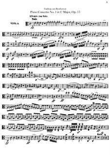 Concerto for Piano and Orchestra No.1, Op.15: parte viola by Ludwig van Beethoven