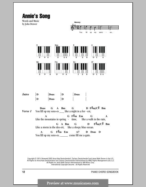 Annie's Song: Letras e Acordes by John Denver