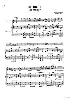 Concerto for Violin and Strings No.6 in A Minor, RV 356: versão para violino e piano by Antonio Vivaldi