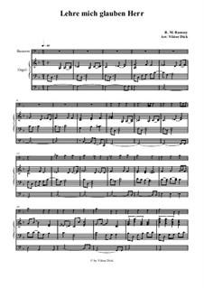 Teach Me Thy Way, O Lord: Para fagote e órgão by Benjamin M. Ramsey
