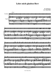 Teach Me Thy Way, O Lord: Para trombone e órgão by Benjamin M. Ramsey