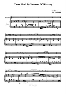 There Shall Be Showers of Blessing: para gravador e piano by James McGranahan