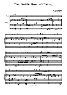 There Shall Be Showers of Blessing: Para viola e órgão by James McGranahan