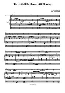 There Shall Be Showers of Blessing: Para gravador e órgão by James McGranahan