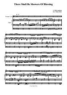 There Shall Be Showers of Blessing: Para trompete em B e órgão by James McGranahan