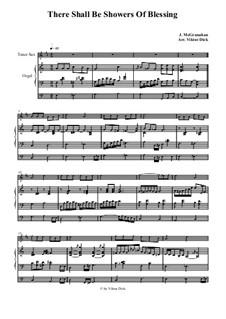 There Shall Be Showers of Blessing: Para saxofone tenor e órgão by James McGranahan
