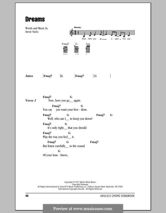 Dreams (Fleetwood Mac): para ukulele by Stevie Nicks