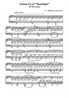 Movement I: para um único cantor (Partitura de alta qualidade) by Ludwig van Beethoven