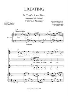 Creating: SSA and piano (english version) by Joan Yakkey