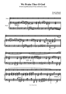 We Praise Thee o God: para oboe e piano by Ernst Heinrich Gebhardt