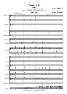 Penso a te. Swing. Santino Cara with arrangements to the battery of Chapy: Penso a te. Swing. Santino Cara with arrangements to the battery of Chapy by Santino Cara