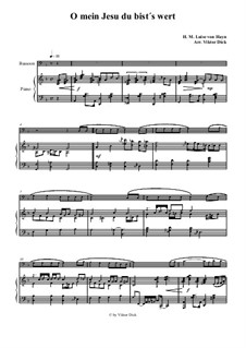 O mein Jesu du bist's wert: para fagote e piano by Henriette Maria Luise von Hayn
