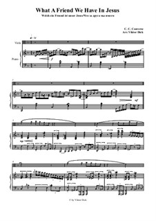 What a Friend We Have in Jesus: para viola e piano by Charles Crozat Converse