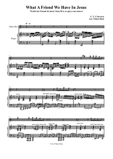 What a Friend We Have in Jesus: Para saxofone tenor e piano by Charles Crozat Converse