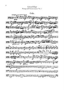 March No.1: Parte Violoncelo by Edward Elgar
