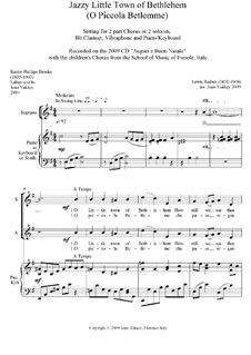 O Little Town of Bethlehem: SA voices (jazzy version) by Lewis Henry Redner