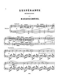 L'esperance: para um único musico (Editado por H. Bulow) by Tekla Bądarzewska-Baranowska