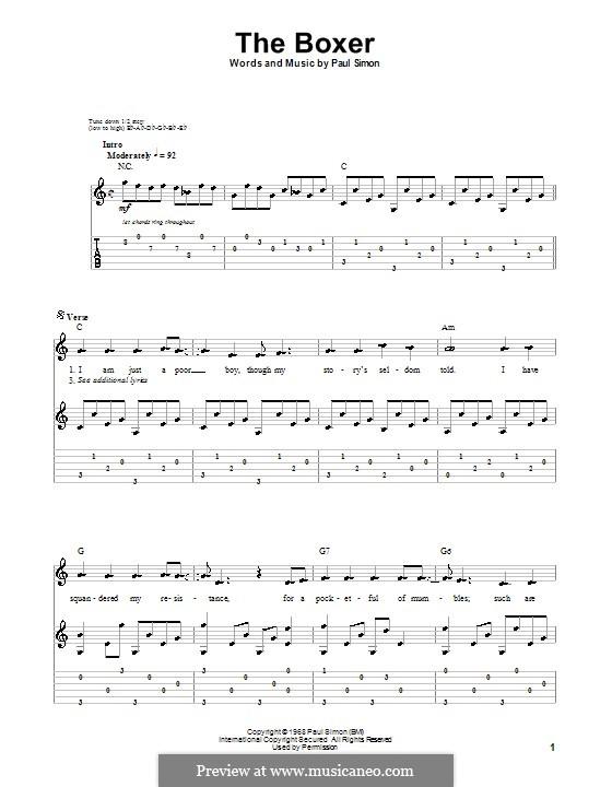 The Boxer: Para guitarra com guia by Paul Simon