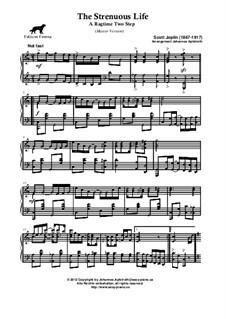 The Strenuous Life: versão master by Scott Joplin
