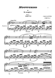 Studies for Piano, CS005: No.3 in D major (Nocturne) by Santino Cara
