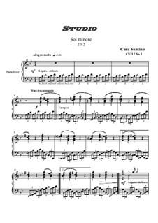 Studies for Piano, CS212: No.1 em G menor by Santino Cara