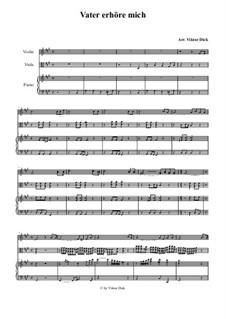 Vater erhöre mich: para violino,viola e piano by folklore
