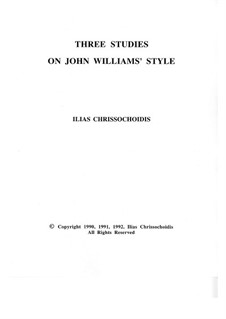 Three Studies on John Williams' style: No.1 by Ilias Chrissochoidis