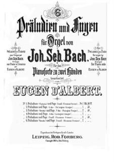 Prelude and Fugue No.6 in A Major, BWV 536: Para Piano by Johann Sebastian Bach