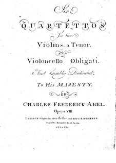 Six String Quartets, Op.8: partes by Carl Friedrich Abel
