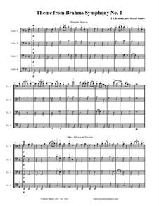 Movement IV: Arrangement of a theme for four cellos by Johannes Brahms