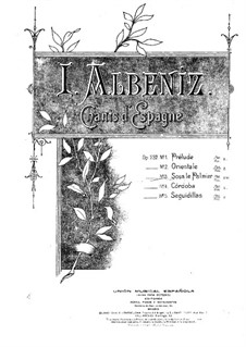 Chants d'Espagne, Op.232: No.3 Sous le palmier (Under the Palm Tree) by Isaac Albéniz